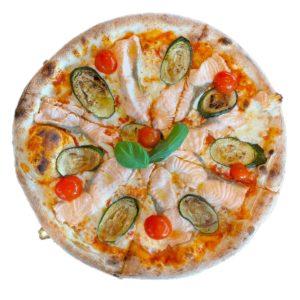 Restaurant Schäftlarn Italiener Hohenschäftlarn Pizza mit Salmone und Zucchini